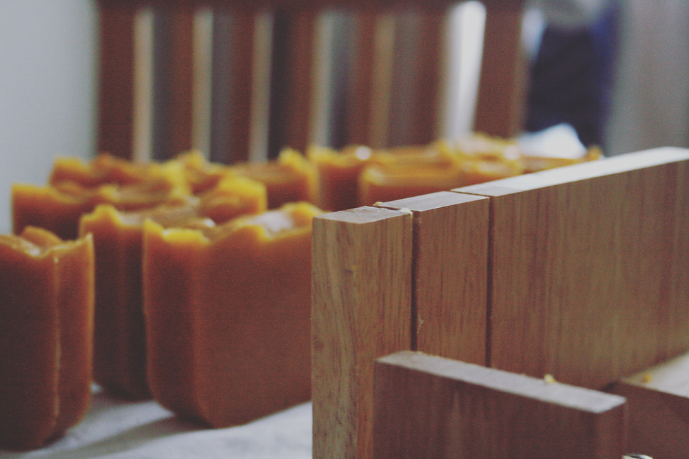 Into the Woods - Sweet Orange, Cedarwood and Patchouli with Coffee Grounds - Certified Natural Vegan Handmade Soap - Cold Process