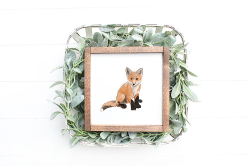 Fox Cub Art Print | Giclee | Fox Cub Drawing