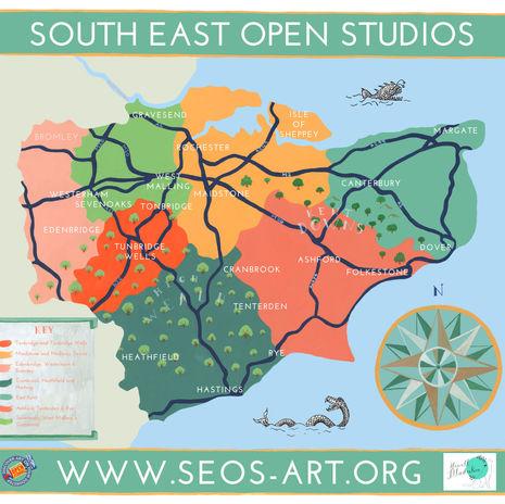 South East Open Studios Area Map