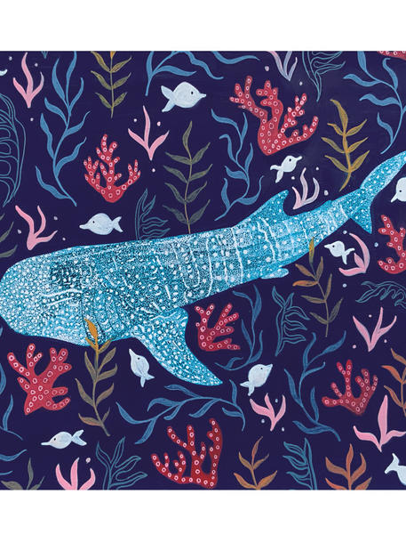 Whale Shark Dotwork Drawing