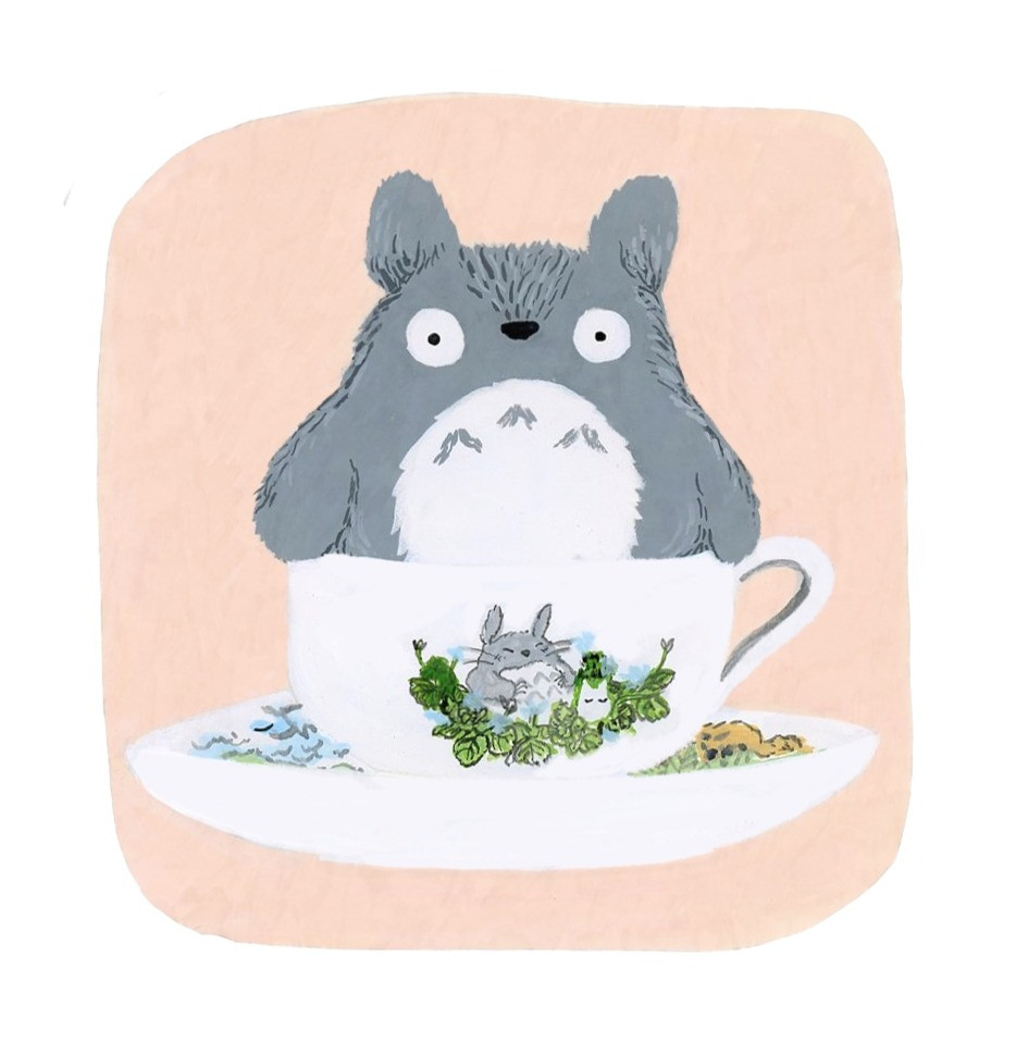 Totoro in a teacup