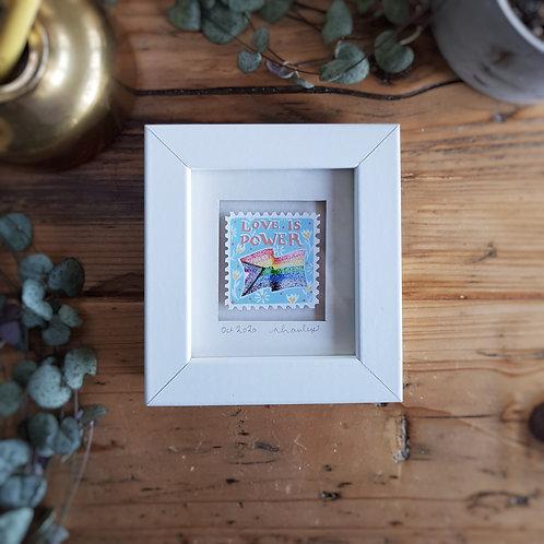 Love is Power Mini Stamp Art | Original Art | Howell Illustration