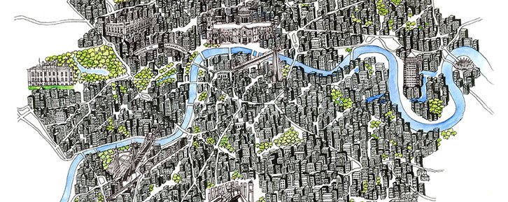 Map of London for The Skyscraper Throne