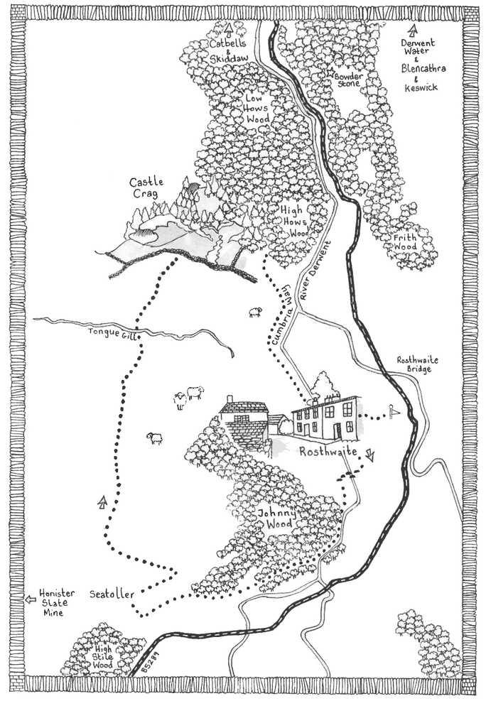 Walk 4, Lake District Map Illustration