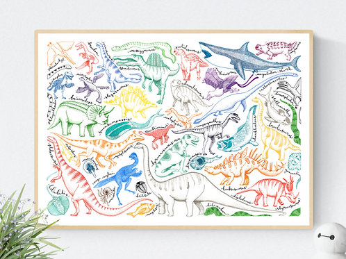 The Prehistoric Print | Open Edition | Giclee | Signed