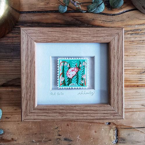 Ladybird Mini Stamp Art   Original Art   Howell Illustration