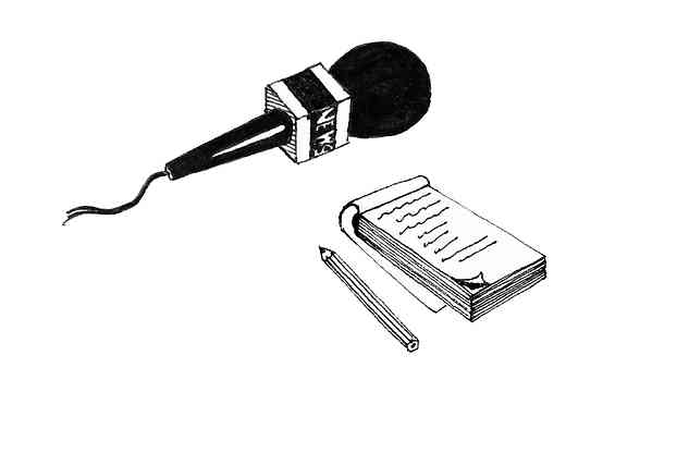 Microphone and Notepad