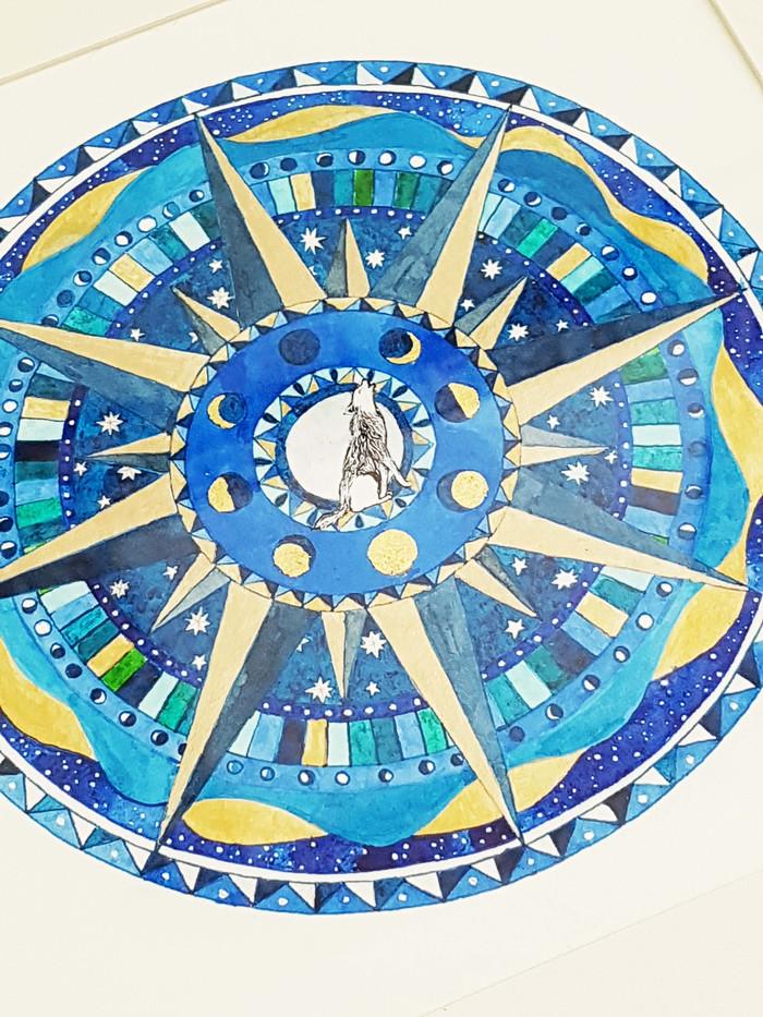Lunar Wolf Compass Rose