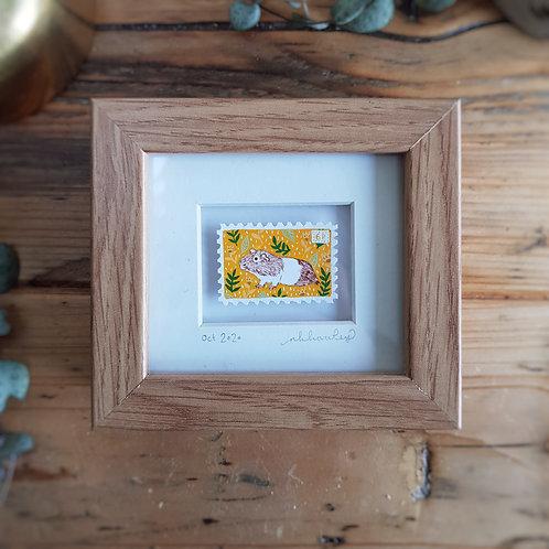 Guinea Pig Mini Stamp Art | Original Art | Howell Illustration
