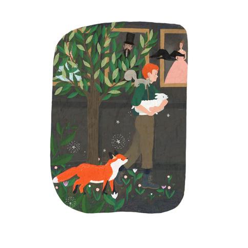 Illustration for The Secret Garden by Frances Hodgson Burnett