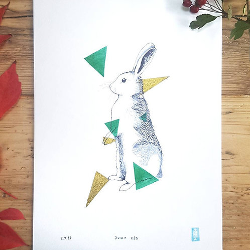 Limited Edition Geometric Animal Prints