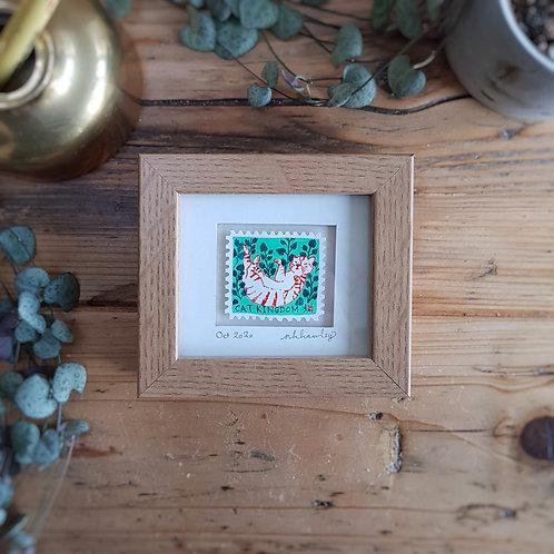 Catnip Mini Stamp Art | Original Art | Howell Illustration