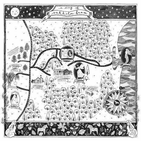 Fairytale Map of Oakholm Farm, USA