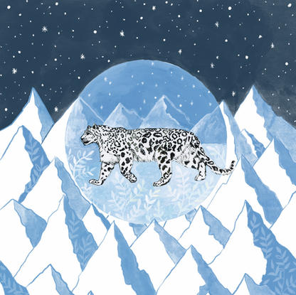 Snow Leopard Journal Cover
