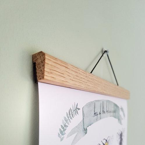 Vertical Oak Poster Hanger