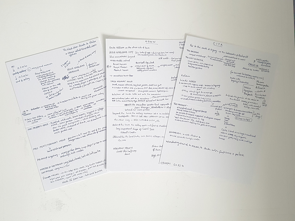Notes to help me build a map of Diana Wynne Jones' Ingary
