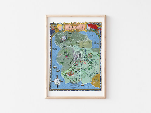 Special Edition Illustrated Map of Ingary | From Diana Wynne Jones' Books