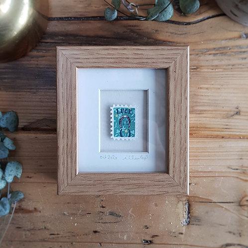 Bring You Luck Mini Stamp Art | Original Art | Howell Illustration