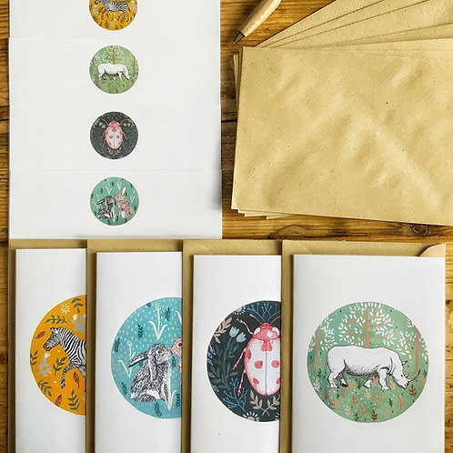 Folky Wildlife Sustainable Letter Writing Set