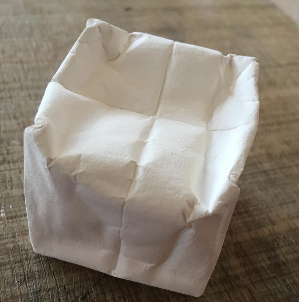 Porcelain Origami Cube by Anne Wagstaff of Dodhurst Ceramics