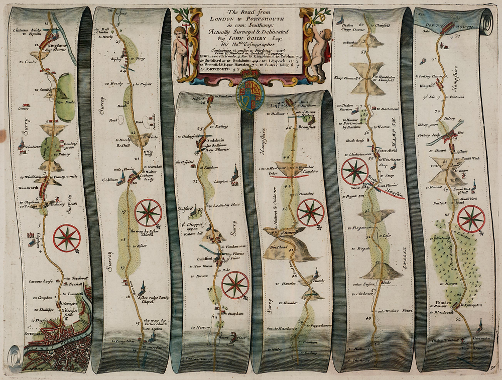 A map by John Ogilby