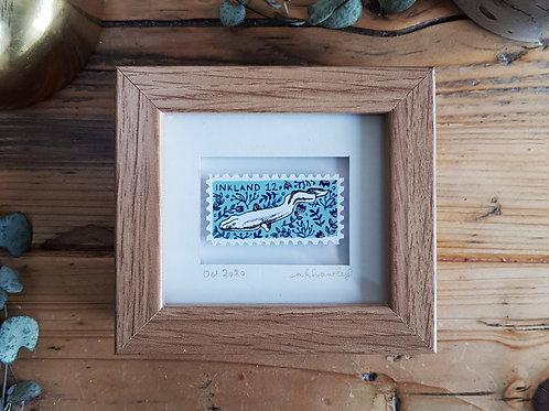 Slippery as an Eel Mini Stamp Art | Original Art | Howell Illustration