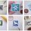 Thumbnail: Fox in Bushes Mini Stamp Art | Original Art | Howell Illustration