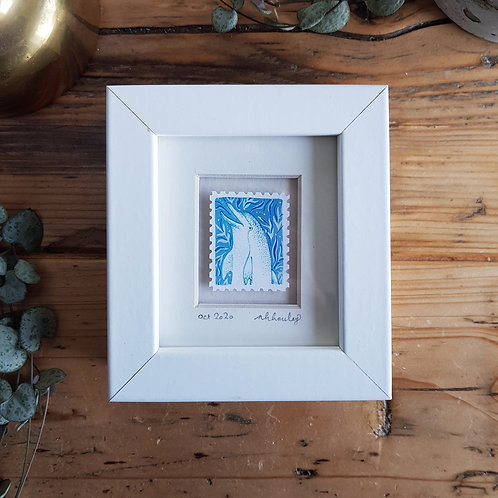 Spinner Dolphin Mini Stamp Art | Original Art | Howell Illustration