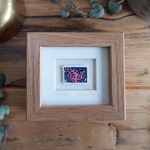 Coral Mini Stamp Art | Original Art | Howell Illustration
