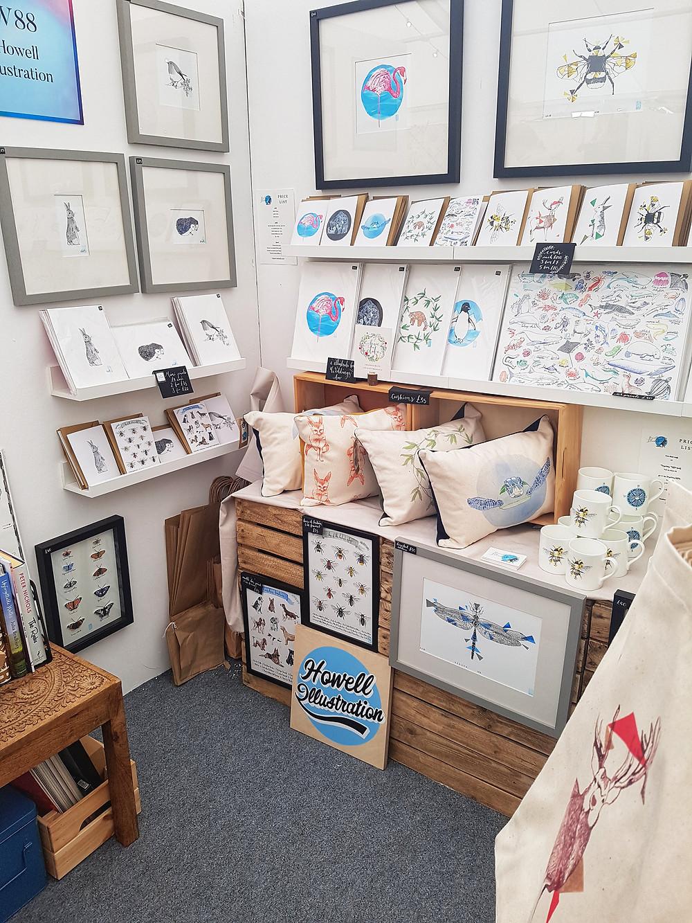 Howell Illustration at The Handmade Fair in 2019