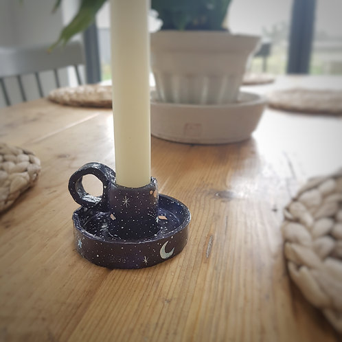 Rustic Starry Night Candle Holder