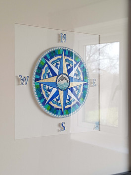 Leaping Whale Compass Rose