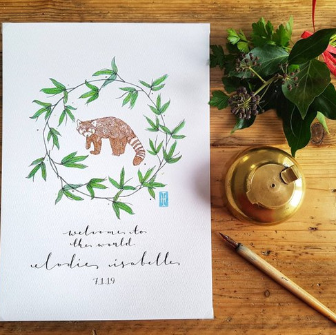 Personalised Animal Art Prints Now Available