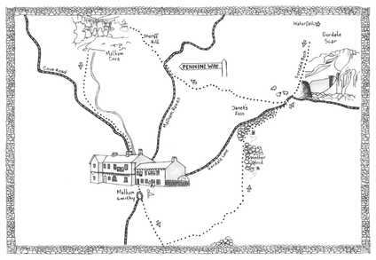 Walk 2, The Dales Map Illustration