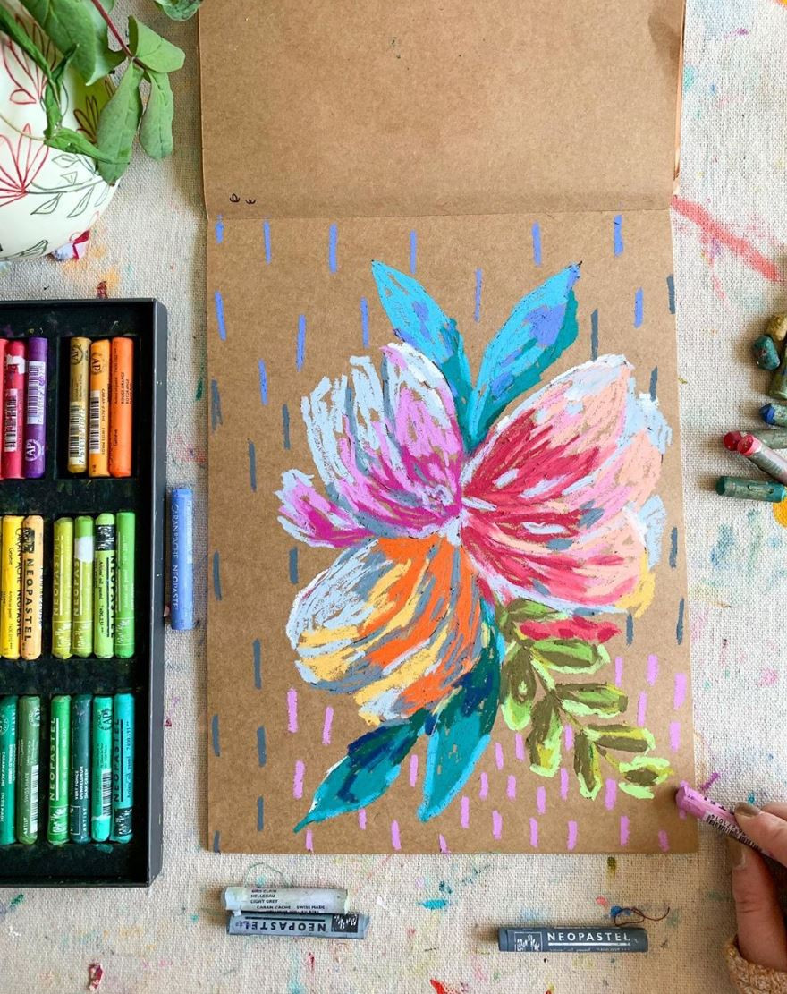 Betsey Ian's floral pastel art explorations