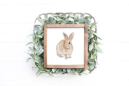 Bunny Rabbit Art Print | Giclee | Rabbit Drawing