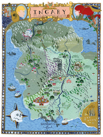 A map of Ingary, from Diana Wynne Jones' books