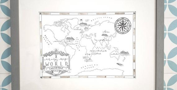 Cruise Map of the World Private Commissi