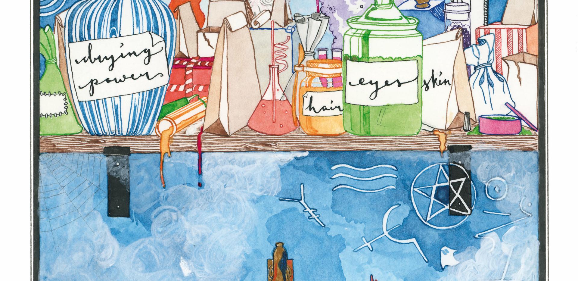 Illustration for Howl's Moving Castle by Diana Wynne Jones