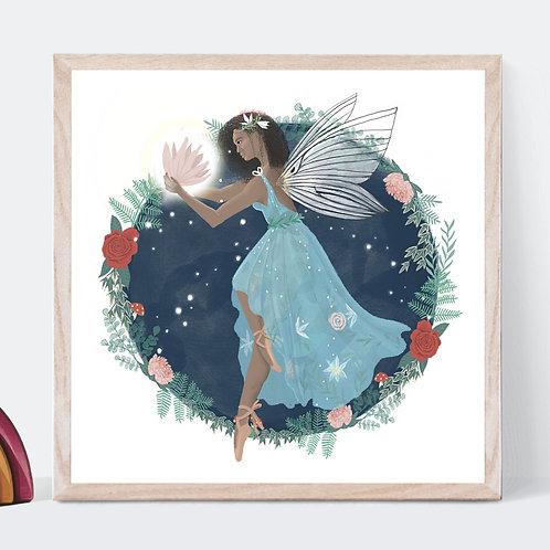 Fairy and Florals Art Print | Original Design | Signed