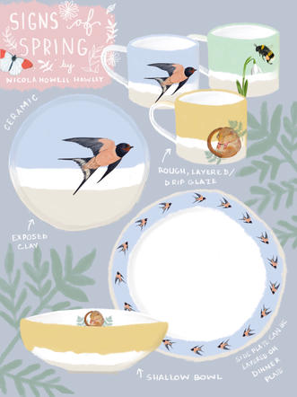 Signs of Spring Dinnerware Concept
