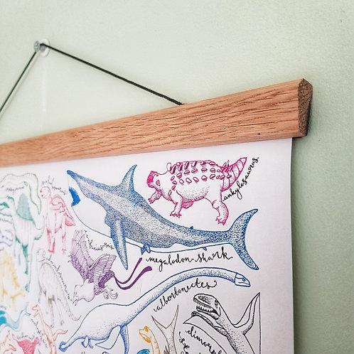 Horizontal Oak Poster Hanger