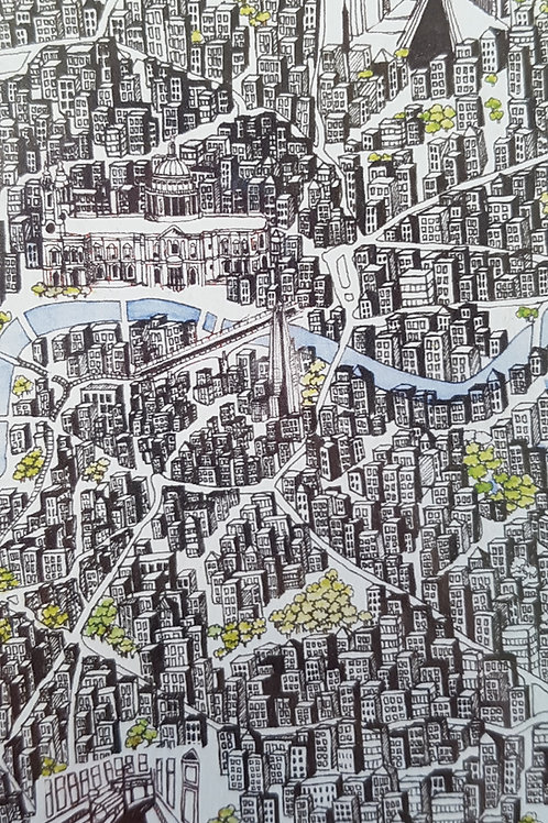 A Map of London Print