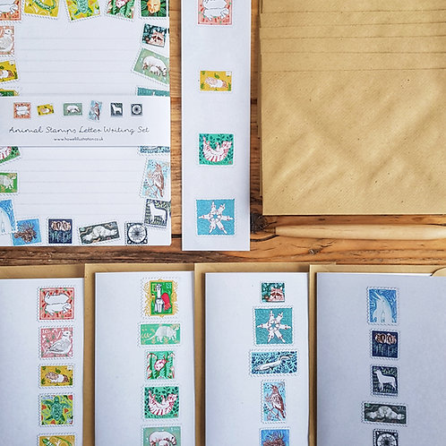Animal Stamps Sustainable Letter Writing Set