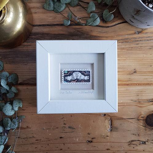 Mole Mini Stamp Art | Original Art | Howell Illustration
