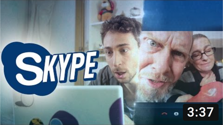 Skype with parents
