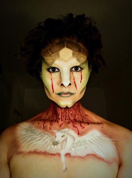 Medusa and pegasus makeup look