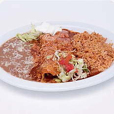 #3 Red Enchiladas
