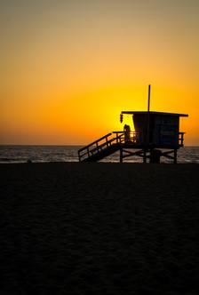 Sunset over Lifeguard
