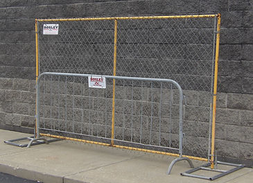 Tempory Fence rented at Bosley Rental & Supply,Inc.